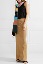 Missoni Striped metallic knitted scarf