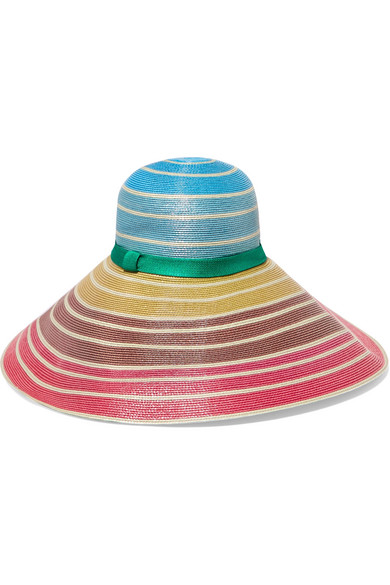 Missoni - Grosgrain-trimmed Striped Woven Sunhat - Pink