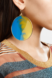 Missoni Gold-tone enamel earrings