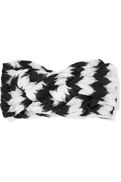 Missoni - Crochet-knit Headband - Black