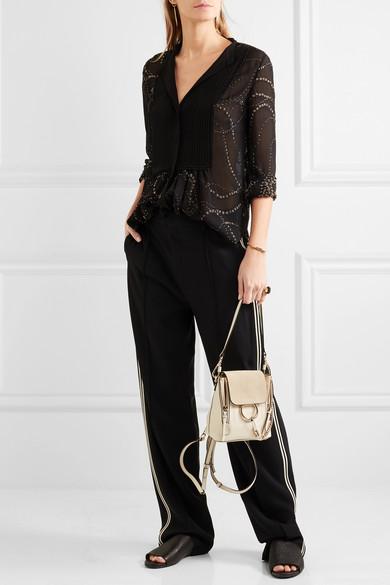 chlo faye mini leather and suede backpack net a porter com. Black Bedroom Furniture Sets. Home Design Ideas