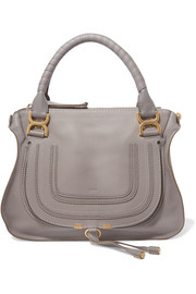 Marcie medium textured-leather tote