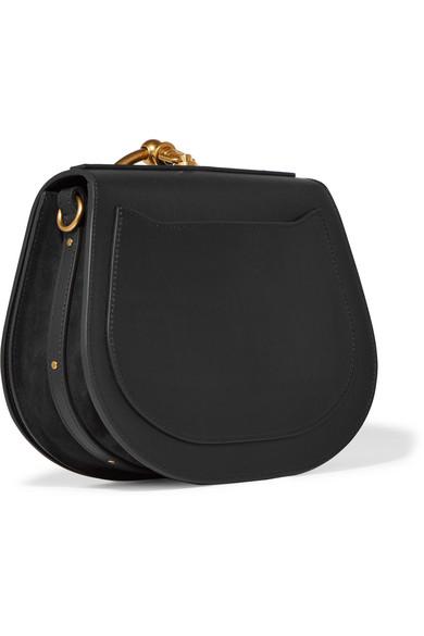 15c192f12e817 Chloé. Nile Bracelet small leather and suede shoulder bag