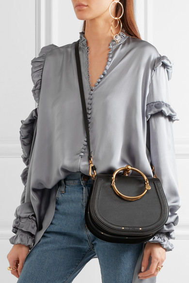 d0c8f5a8 Chloé | Nile Bracelet small leather and suede shoulder bag | NET-A ...