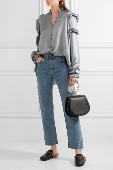 0b4e0c669107 Chloé | Nile Bracelet small leather and suede shoulder bag | NET-A ...
