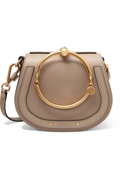 503189a4 Nile Bracelet small leather and suede shoulder bag