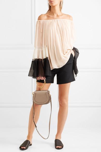 c79effd04e9c Nile Bracelet small leather and suede shoulder bag
