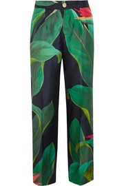 F.R.S For Restless Sleepers Crono printed silk-twill pants