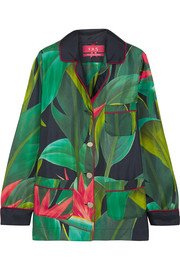 F.R.S For Restless Sleepers Rea printed silk-twill shirt