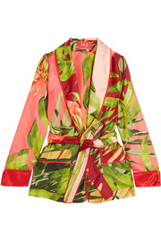 F.R.S For Restless Sleepers Armonia printed silk-twill jacket