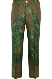 F.R.S For Restless Sleepers Tartaro printed silk-twill pants