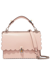 Kan I scalloped leather shoulder bag