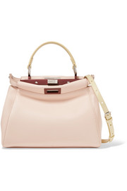 Fendi Peekaboo mini leather shoulder bag