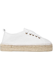 Manebi Lace-up broderie anglaise espadrilles