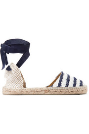 Manebi Striped tweed espadrilles