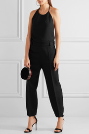 Saunderson wool-canvas halterneck jumpsuit