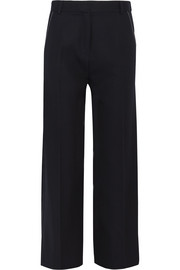 Hutton wool-twill wide-leg pants