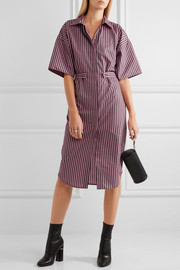 Tiller oversized striped cotton shirt dress