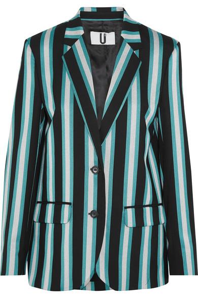 Beale striped satin-twill blazer