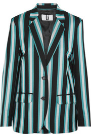 Beale striped satin-twill blazer
