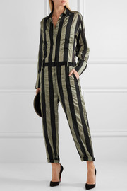 Duvall striped satin jumpsuit