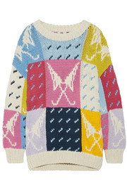 Lindbergh oversized intarsia cotton sweater