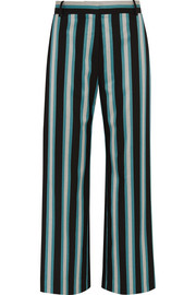 Beale striped satin-twill pants