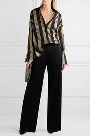 Duvall oversized striped satin shirt