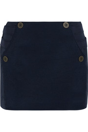 Topshop Unique Raleigh twill-paneled shell mini skirt
