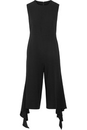 Ruffle-trimmed crepe jumpsuit