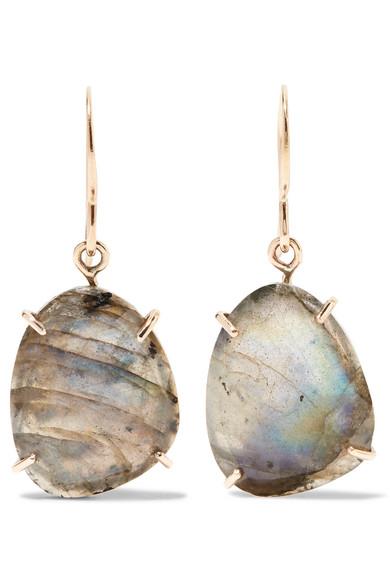Melissa Joy Manning 14-karat Gold, Sterling Silver And Labradorite Earrings