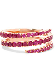 Anita Ko Coil 18-karat rose gold ruby ring