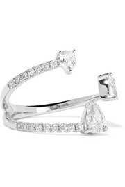 Anita Ko Pear Saturn 18-karat white gold diamond ring