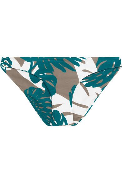 Mikoh - Zuma Printed Bikini Briefs - Army green