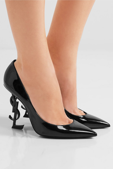 8554259225 SAINT LAURENT | Opium patent-leather pumps | NET-A-PORTER.COM
