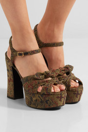 Saint Laurent Candy brocade sandals