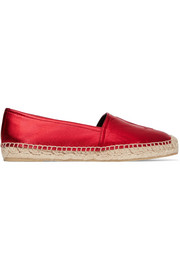 Metallic leather espadrilles