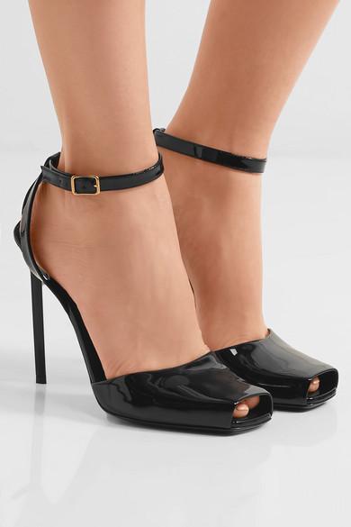 9ad8d99ca67c Saint Laurent. Edie patent-leather sandals