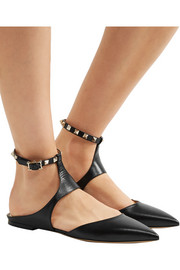 Valentino The Rockstud leather point-toe flats
