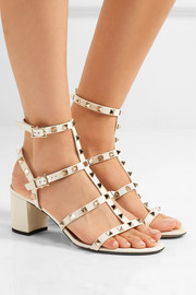 Valentino The Rockstud patent-leather sandals