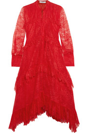 Nigella ruffled lace dress