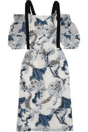Erdem Bree embellished fil coupé dress