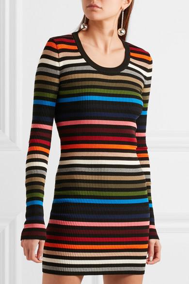 d8d071750d Sonia Rykiel | Striped ribbed-knit mini dress | NET-A-PORTER.COM