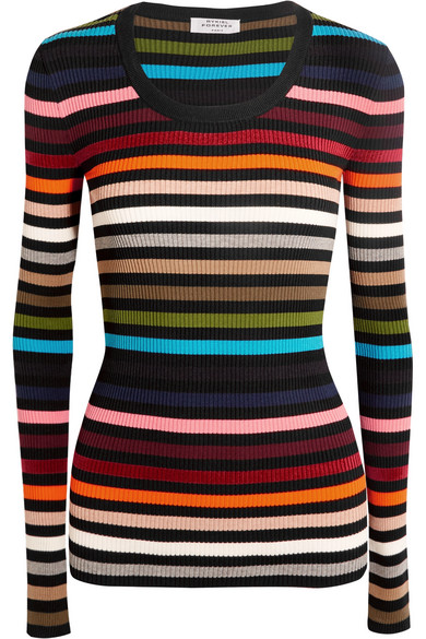 Sonia Rykiel - Striped Stretch-knit Sweater - Red