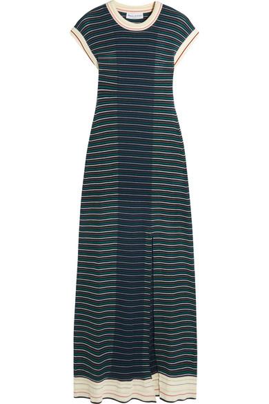 Sonia Rykiel - Striped Cotton-blend Maxi Dress - Blue