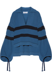 Sonia Rykiel Oversized striped ribbed stretch-knit sweater