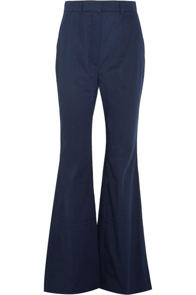 Sonia Rykiel - Cotton-twill Wide-leg Pants - Midnight blue