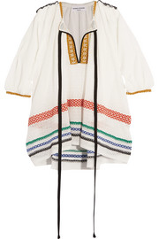 Sonia Rykiel Embroidered gauze tunic