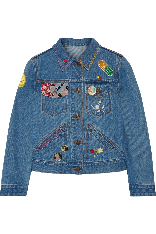 Runway Marc Jacobs Embellished denim jacket