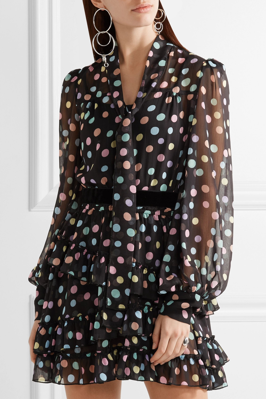 Runway Marc Jacobs Belted polka-dot chiffon mini dress